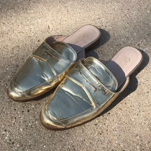 Catherine Malandrino gold slides